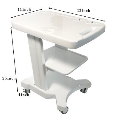 Portable Ultrasound Cart Mobile Trolley With Probe Holder Fetal Machine Scanner