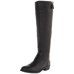 BRAND NEW PAIR OF FAUX LEATHER BOOTS SIZE 8 (BLACK)