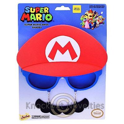 Sun-Staches - Super Mario Funny Novelty Silly Sunglasses Sun (Super Sun Glasses)