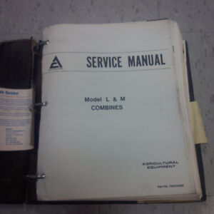 Service manual for Allis Chalmers L and M series combines