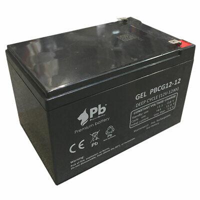 Batería carro de golf/moto eléctrica PB Gel Ciclo profundo PBCG12-12 12V 12Ah
