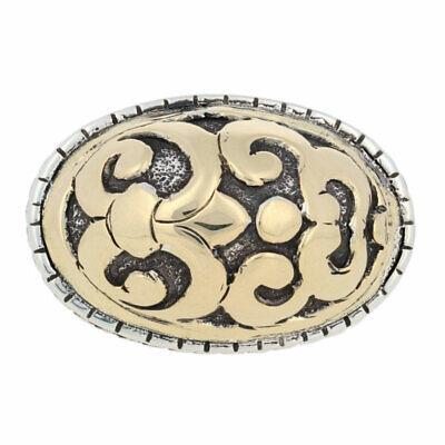 John Hardy Fleur de Lis Ring - Sterling Silver & 18k Gold Designer Statement