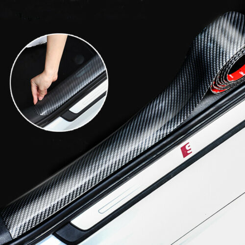 Car Parts - Carbon Fiber Car Parts Accessories Door Sill Plate Cover Anti Scratch Stickers