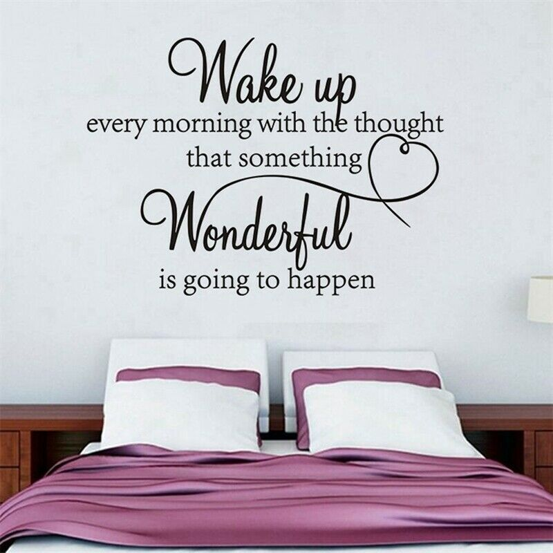Details about Wake up Wonderful Bedroom Quote Wall Stickers DIY Art Room  Decor Removable D #XU