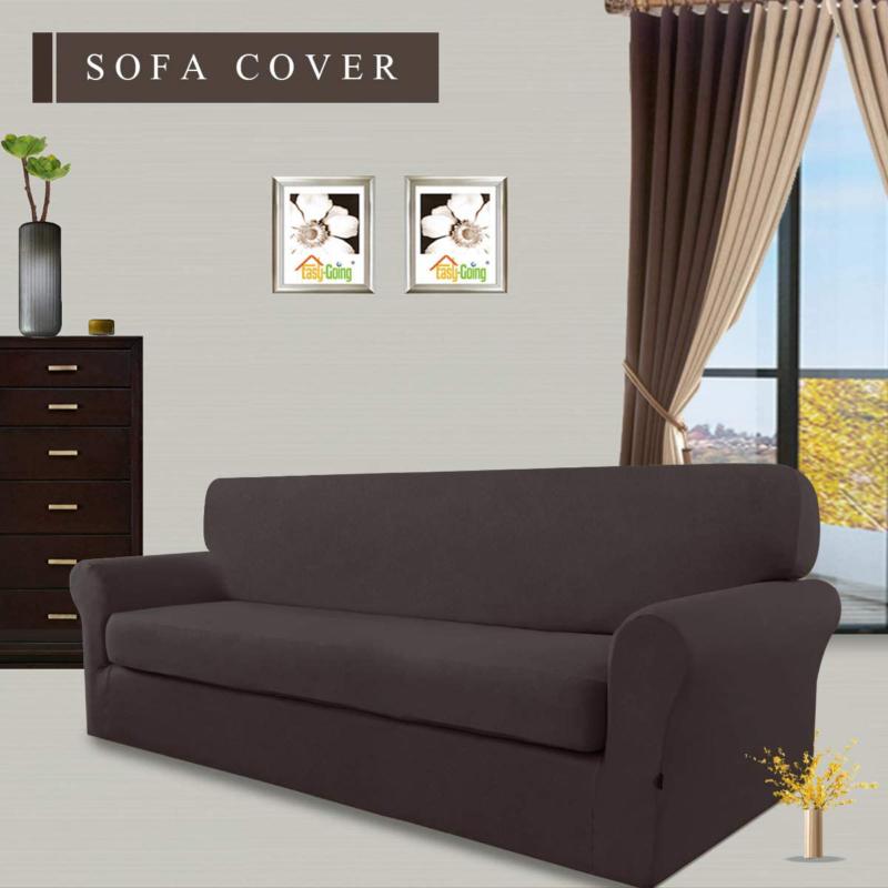 Easy-Going Pieces Microfiber Stretch Sofa Spandex
