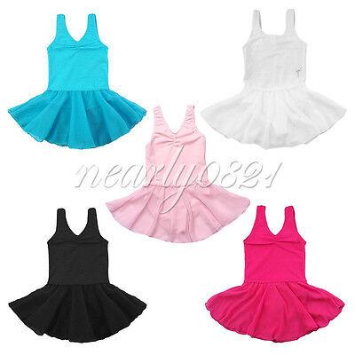 Girls Gymnastics Ballet Dress Toddler Kids Leotard Unitards Dancewear SZ 2-14
