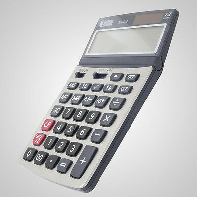 NURIAN NR-805 12-Digit Calculator GT Dual Power 4-KEY Memory Plrastic Key