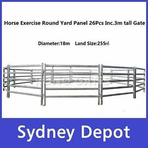 18m Diameter Horse Exercise Round Yard 3m tall Gate Prestons Liverpool Area Preview