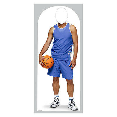 BASKETBALL PLAYER Lifesize Stand-In CARDBOARD CUTOUT Standin Standup Standee F/S - Basketball Cardboard Cutouts