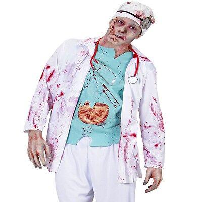 Arzt Kostüm Arztkittel ZOMBIE DOKTOR 3 tlg. Halloween - Kittel Halloween Kostüm