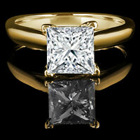 Princess Diamond Engagement Ring 1.45CT Bague de fiançailles