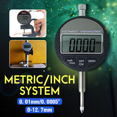 0.01mm0.0005 Electronic Digital Dial Indicator Probe Gauge Range 0-12.7mm0.5