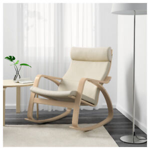 POÄNG Rocking chair W/ Red Cushion and Foot-rest