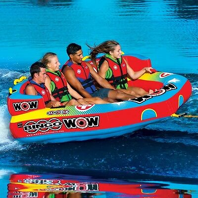 Bingo 4 cockpit 4 persons towable tube inflatable water-ski  lounge WOW 14-1080