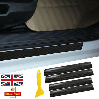 Car Door Sills Protector Paint Protection Films for Picanto Rio Ceed//GT//SW//PRO Cerato Venga Front Rear Kick Plates Red 4Pcs Scuff Plates Cover