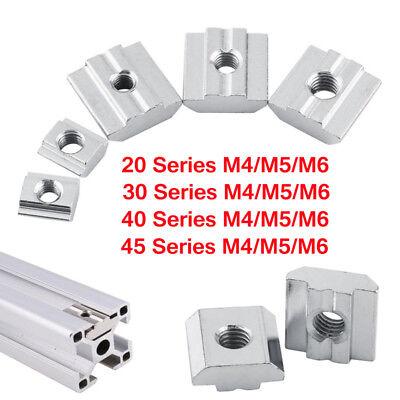 M4m5m6 Slide-in Nuts For 2020 3030 4545 T-slot Aluminum Profilecnc 3d Printer