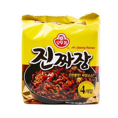 Korean Instant Black Bean Sauce Noodle OTTOGI JIN JJAJANG Ramen 4pack Set