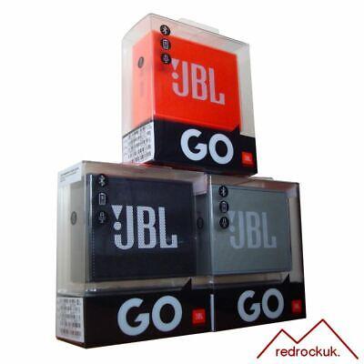 JBL GO Portable Wireless Bluetooth Stereo Speaker - Black, Grey & Orange