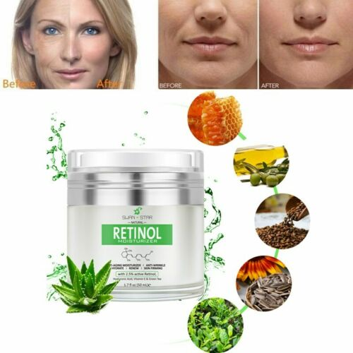 Swan Star 2.5%Retinol Moisturizer Face Cream Hyaluronic Acid vitaminA Anti Aging Anti-Aging Products