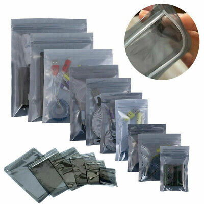 50100x Anti-static Zip Bag Shielding Electronic Package Zipper Pouch Resealable