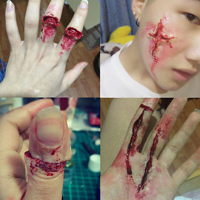 Fake Wounds Halloween Costume (Fake Wound Wax Halloween Costume Accessory Special Effect Makeup Fancy)