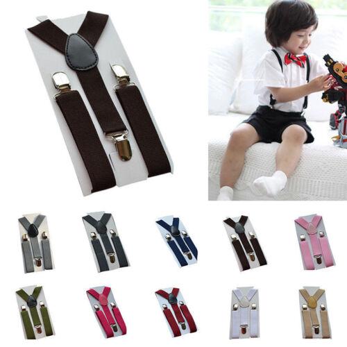 Boys Girls Baby Kid Children Clip-on Elastic Braces Suspenders 1-7Years Fashion