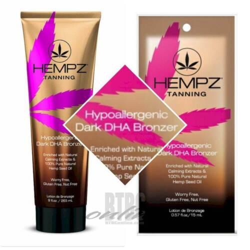 HEMPZ Hypoallergenic Dark DHA Bronzer Indoor Tanning Bed Lot