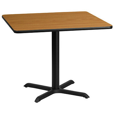 36 Square Natural Laminate Table Top With 30 X 30 Table Height Base
