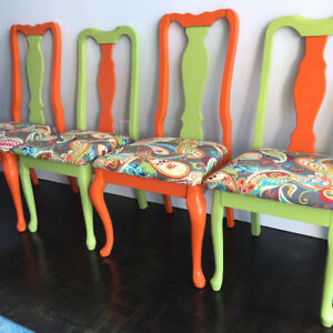 Modern Upcycled Dining Chairs