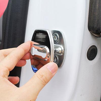 Steel Door Lock Protective Cover For 2016 2017 Chevrolet Camaro Accessories