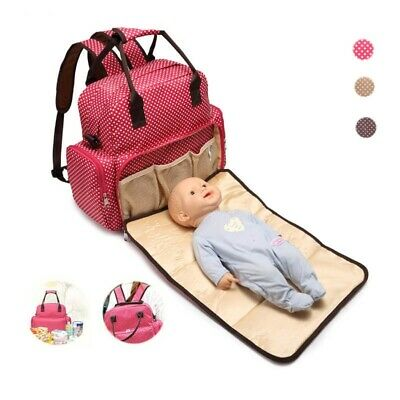 Mummy Maternity Nappy Bag Large Capacity Baby Travel Backpack Nursing Bag US