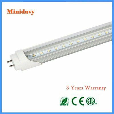 4FT 18W Single-End Power T8 Fluorescent Replacement LED Tube Light 25-Pack Clear