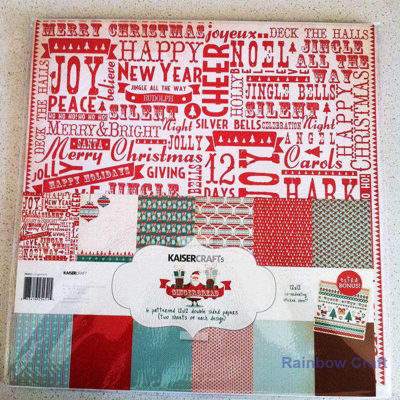 Kaisercraft Paper Pack Bonus Sticker Sheet Christmas Carol Secret garden - Gingerbread