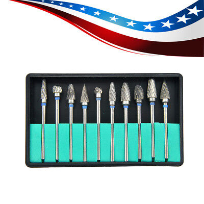 Usa Tungsten Carbide Steel Dental Burs Burrs Lab Tooth Drill 2.35mm For Grinding