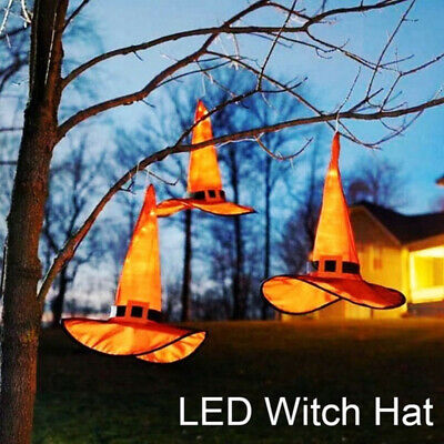 Halloween Decorations Witches Outdoor (Halloween Decorations Witch Hats String Lights Outdoor Hanging Lighted)