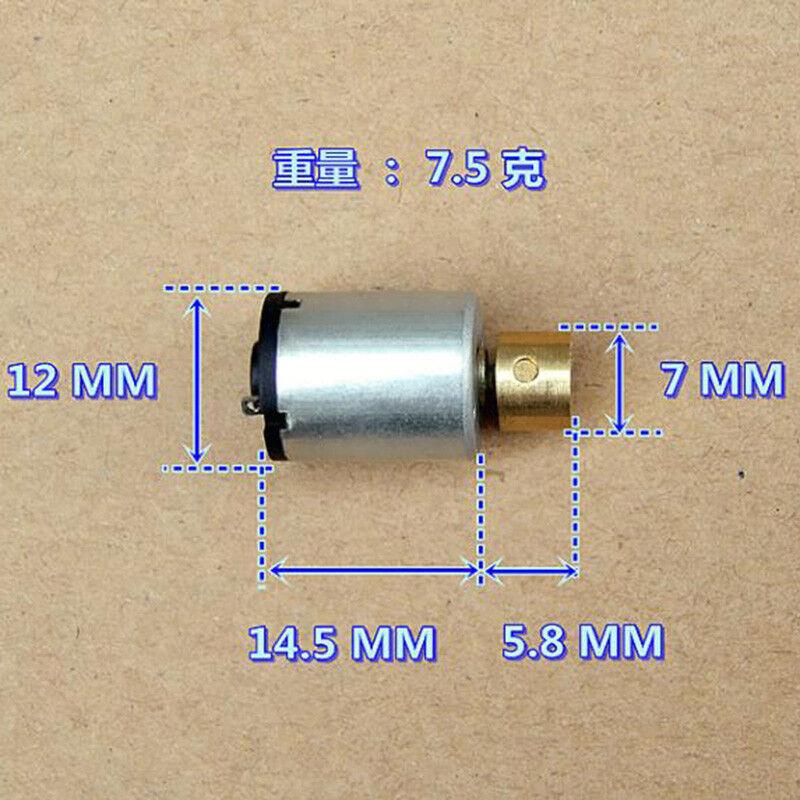 12mm*15mm DC 1.5V~3V Mini Cylindrical Vibration Vibrating Motor DIY Toy Massager