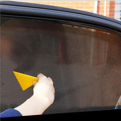2* Car Side Window Net Sun Shade Shied Mesh Film Sticker UV Protector 72c PZG