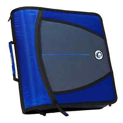 3 Inch Binder With Zipper - New Case-it XL 3 Ring 3 INCH Zipper Binder with 5-Tab File Folder, BLUE