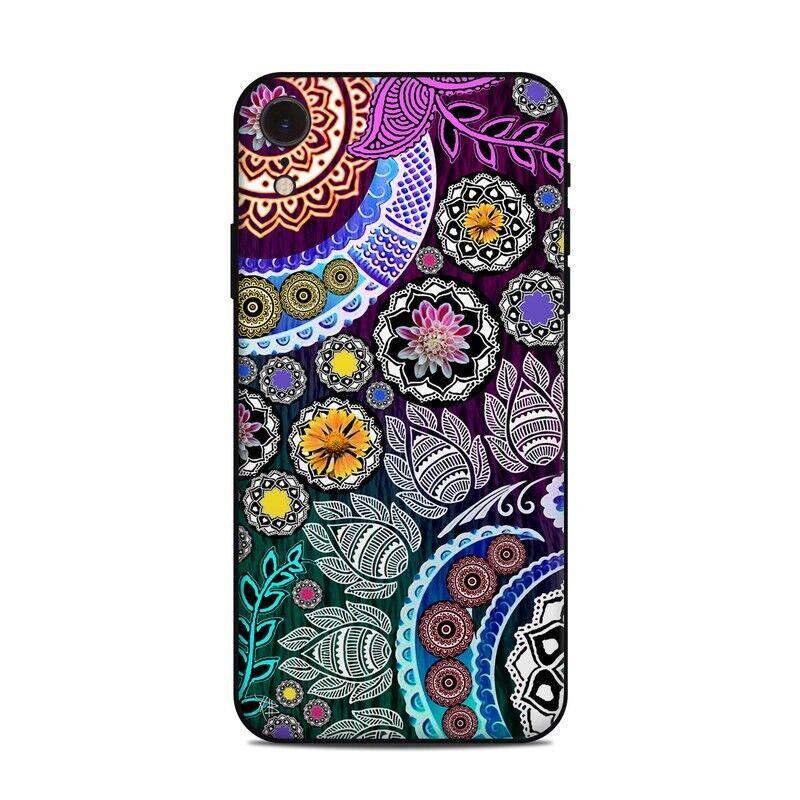iPhone Xr Skin - Mehndi Garden by Fusion Idol - Sticker Decal