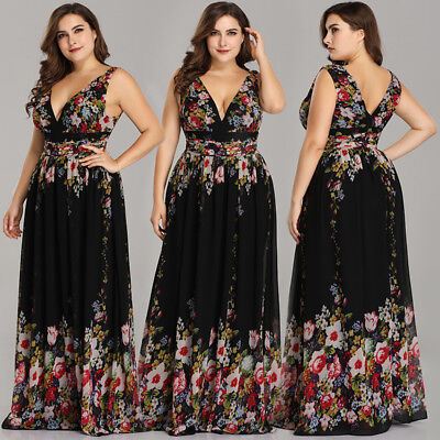 Ever Pretty US Plus Size Formal Floral Evening Prom Cocktail Party Dresses 09016 (1920s Womens Attire)