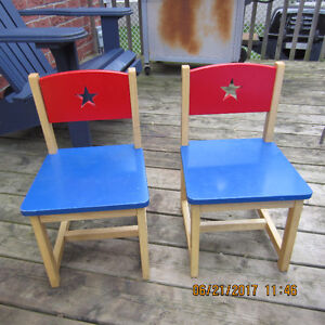 Wooden chairs for kids