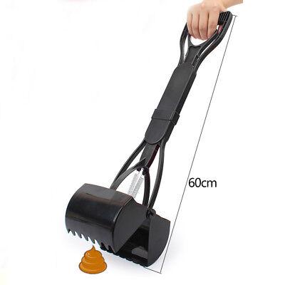 1x Portable Dog Pet Pooper Scooper Jaw Poop Scoop Clean Pick Up Tool Long Handle