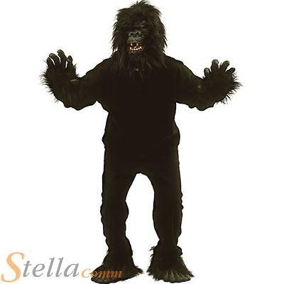 Men's Gorilla Ape Money Suit Adult Animal Jungle Fancy Dress Costume