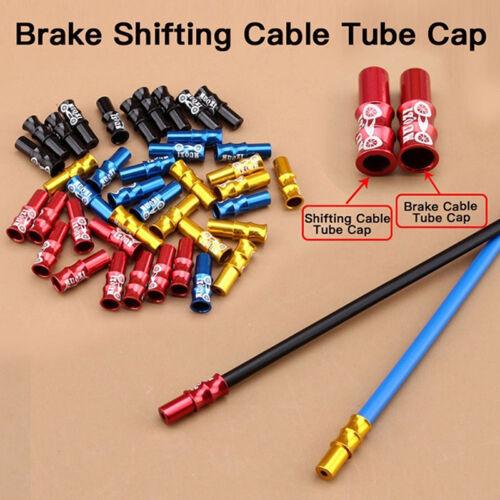 10x Crimp Brake Derailleur Shifter Cable Line End Cap Tips For Bicycle Bike