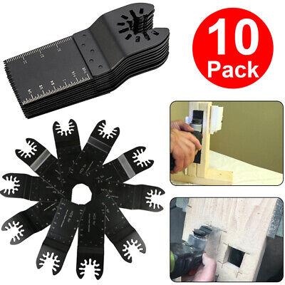 10 Pcs 34mm Oscillating Multi Tool Saw Blades Carbon Steel Cutter Diy Universal
