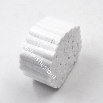 50 Roll Dental Disposable Absorbent Hemostatic Cotton Fibers Soft Pliable Wadded
