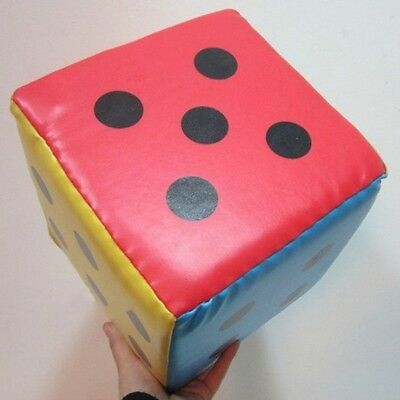 20cm Large Sponge Faux Leather Dice Six Sided Game Toy Party Supplies NE8