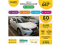 LEXUS CT 200H 1.8 F-SPORT ADVANCE PLUS LUXURY SE  PREMIER FROM £77 PER WEEK!