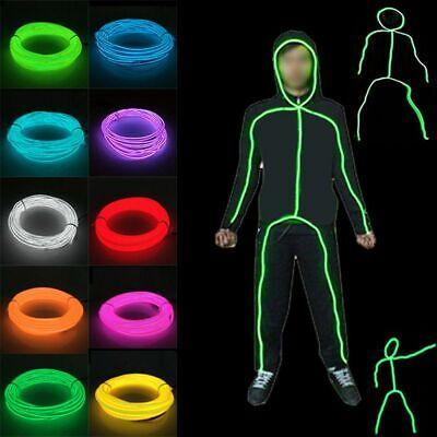 HALLOWEEN  GLOW STICKMAN SET Adult Kids Neon Stick Man made from EL Wire