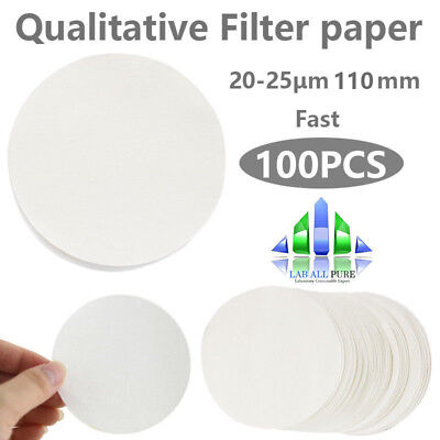 100PCS Qualitative Filter paper, Fast, Φ11cm, Grade4, circles, 20-25μm 110mm LAB